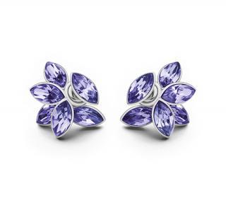 Christian Dior Blue Flower Earrings