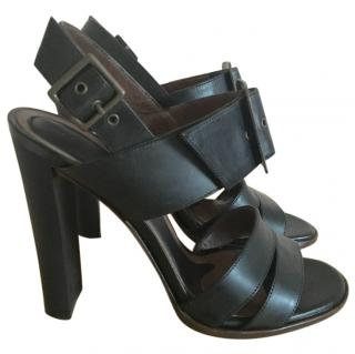 Marni Black Leather Sandals With Buckle