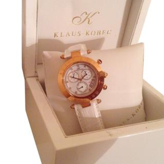 Klaus Kobec Rose Gold plated diamond sport watch