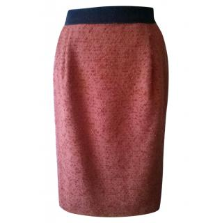 Iceberg Coral Wool and Mohair pencil skirt