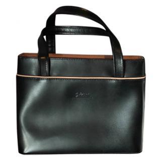 Longchamp Black Leather Handbag