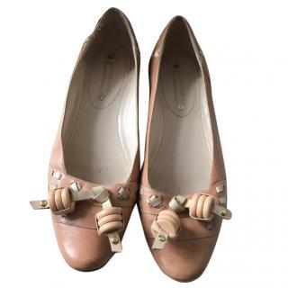 Celine Ladies Nude ballet shoes