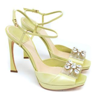 Christian Dior Light Green Heeled Sandals