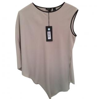 Costume National Asymmetric Taupe Top