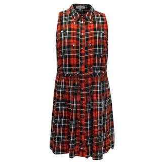 Elizabeth And James Tartan Mini Dress