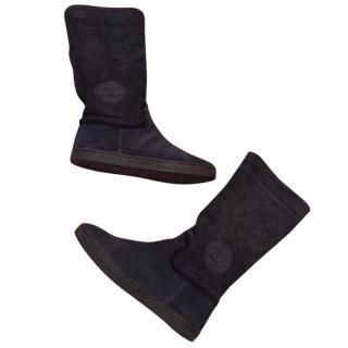Chanel sheepskin boots