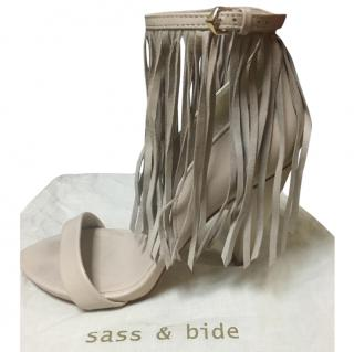 Sass & Bide leather heels with tassel detail