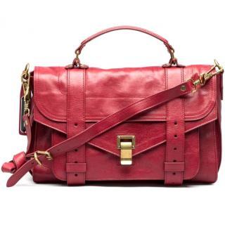 Proenza Schouler Red grained Shoulder Leather Bag