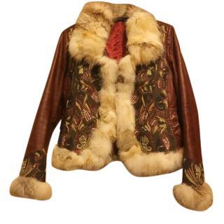 Roberta Scarpa Fox Fur and Leather jacket