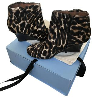 Lanvin Leopard Print Ankle boots