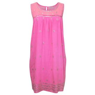 Calypso Pink Dress With Seqins