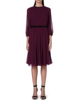 Max Mara Pianoforte Purple Silk Dress