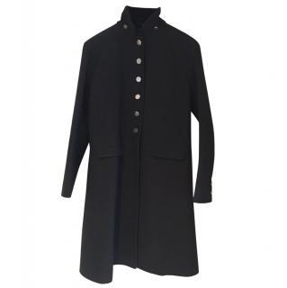 Louis Vuitton Black Military Style Coat