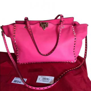 Valentino Pink Medium Rockstud Tote