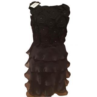 Max Mara silk black dress