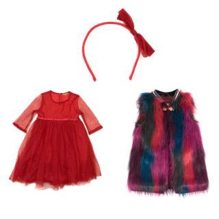 Scotch R'Belle And ILoveGorgeous Dress And Fur Vest