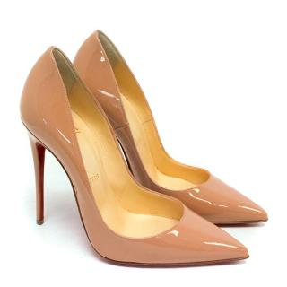 Christian Louboutin So Kate Nude Patent 120