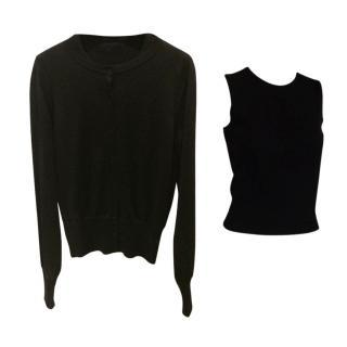 Alaia black wool twin set