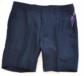 Ralph Lauren Purple Label men's navy linen shorts