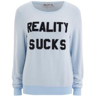 Wildfox Reality Sucks Varsity Top