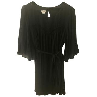 Temperley black silk dress