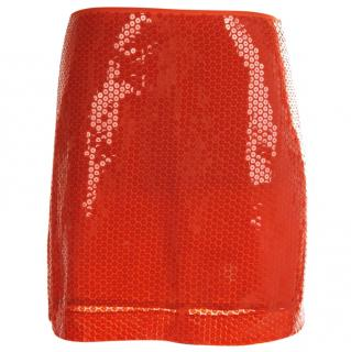Moschino Cheap and Chic red sequin skirt