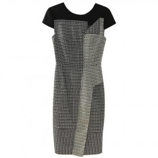 Roland Mouret Black and White fitted dress