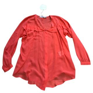 See By Chloe Top Orange Sunset Blouse