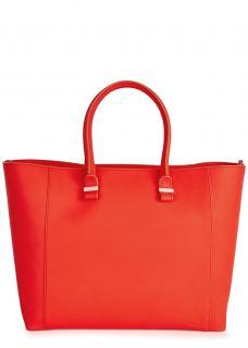 Victoria Beckham red quincy shopper tote