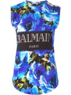 BALMAIN  floral print tank top