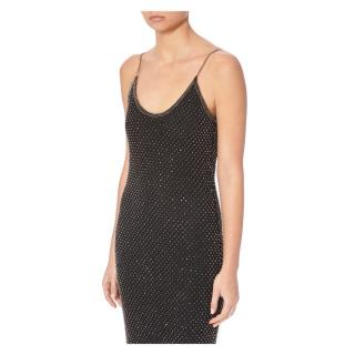PA5H Black Open-Back Dress with Crystals