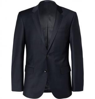 HUGO BOSS Navy Hayes Slim-Fit Wool-Blend Suit Jacket