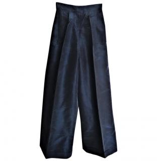 Oscar De La Renta silk trousers
