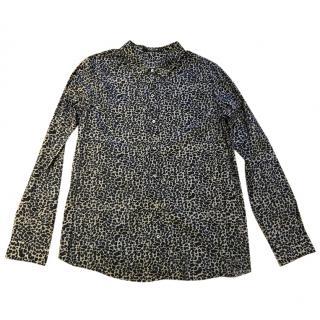 Maison scotch animal print blouse