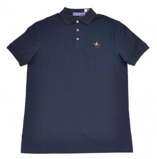 Ralph Lauren Purple Label cotton navy poloshirt