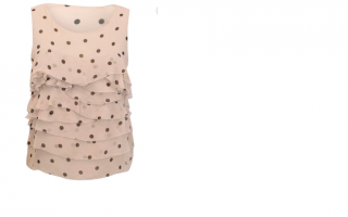 PHILLIP LIM Nude Polka Dot Top