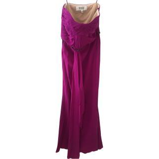 Badgley Michka magenta colour long gown