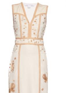 DVF gold and ivory shift dress