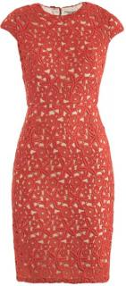 Issa red lace Guipuire dress size 12