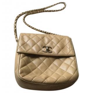 Chanel caramel quilted leather shoulder bag