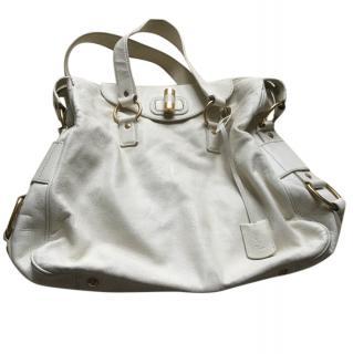 Saint Laurent Cream Leather Bag