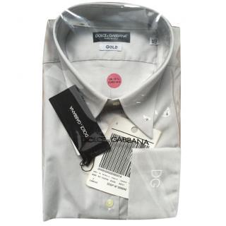 Dolce & Gabbana Gold Fit Grey Shirt