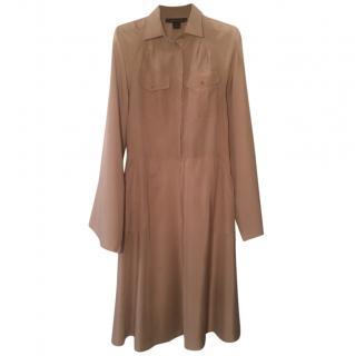 Ralph Lauren camel silk safari dress
