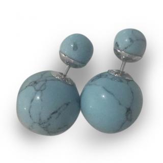 Christian Dior Marble Effect Tribal Earrings