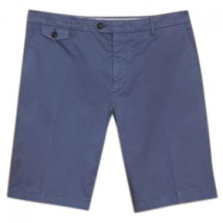 Burberry Men's Blue Stretch Cotton Shorts