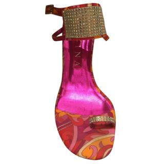 Gina Embellished Pink Sandals