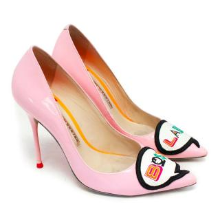 Sophia Webster Baby Pink Patent Leather Pumps