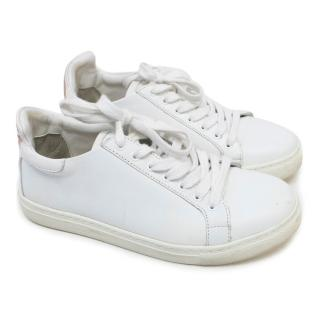 Sophia Webster White Sneakers With Butterfly Embellishment