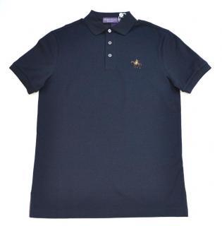 Ralph Lauren Purple Label navy cotton polo shirt