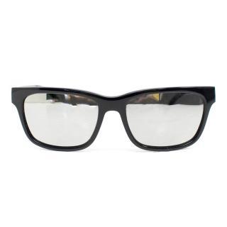 Tom Davies Bespoke Black Mirrored Sunglasses